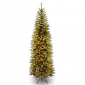 National Tree Company Kingswood Fir 6.5ft Pencil Tree with 250 Soft White LED Lights