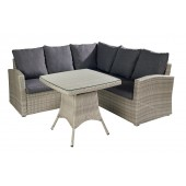 Hartman Linear Square Casual Dining Corner Sofa Set - Cool Grey
