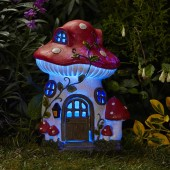 Mushroom Solar Powered Fairy House by Smart Garden