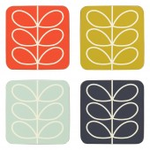 Orla Kiely Set of 4 Coasters - Linear Stem