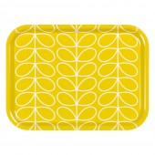 Orla Kiely Small Tray - Linear Stem Yellow