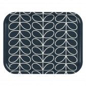 Orla Kiely Medium Tray - Linear Stem Slate