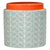 Orla Kiely Large Ceramic Storage Jar - Linear Stem Duck Egg Blue