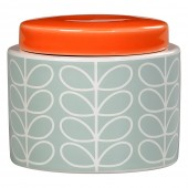 Orla Kiely Small Ceramic Storage Jar - Linear Stem Duck Egg Blue