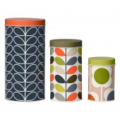 Orla Kiely Set of 3 Storage Tins - Stem