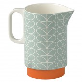 Orla Kiely Ceramic Pitcher - Linear Stem Duck Egg