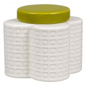 Orla Kiely Flower Shaped Storage Jar - Pressed Flower