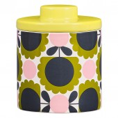 Orla Kiely Ceramic Storage Jar - Scallop Flower Forrest