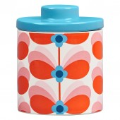 Orla Kiely Ceramic Storage Jar - Butterfly Stem Bubble Gum