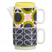 Orla Kiely Ceramic Tea for One - Scallop Flower Forest