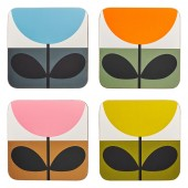 Orla Kiely Set of 4 Coasters - Sunflower