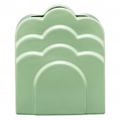 Orla Kiely Layered Ceramic Vase - Buttercup