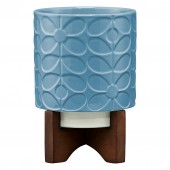 Orla Kiely Ceramic Plant Pot - Sixties Stem Sky