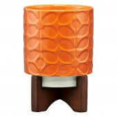 Orla Kiely Ceramic Plant Pot - Sixties Stem Orange