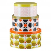Orla Kiely Set of 3 Nesting Cake Tins - Butterfly Stem