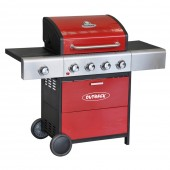 Outback Meteor 4 Burner Gas BBQ - Red