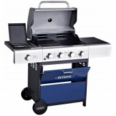 Outback Meteor 4 Burner Gas BBQ - Blue