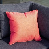 Hartman Square Weatherproof Scatter Cushion - Red Coral
