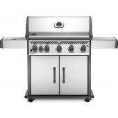 Napoleon Rogue XT 625 Gas BBQ with Infrared Side Burner - Stainless Steel