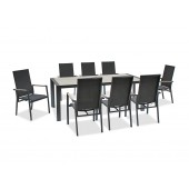 Kettler Surf Active 8 Seat Dining Set with Multi-Position Dining Chairs