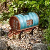 Gypsy Rose Caravan Solar Powered Fairy House by Smart Garden