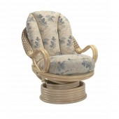 Desser Deluxe Natural Wash Swivel Rocker and Cushions