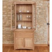 Roscoe Contemporary Oak Glazed Display Top Only