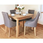 Roscoe Contemporary Oak Small 4 Seater Dining Table