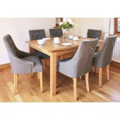 Roscoe Contemporary Oak Large 6 Seater Dining Table
