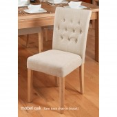 Flare back Upholstered Dining Chair  (PACK OF TWO)