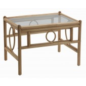 Desser Madrid Light Oak Coffee Table and Glass