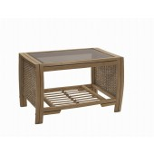 Desser Manila Coffee Table and Bronze Glass
