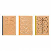 Orla Kiely Set of 3 A6 Kraft Mini Notebooks