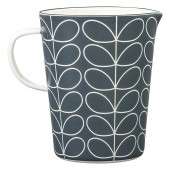 Orla Kiely Large Enamel Measuring Jug - Slate Linear Stem