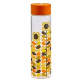 Orla Kiely 525ml Glass Water Bottle - Multi Stem Daisy