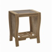 Desser Opera Light Oak Lamp Table