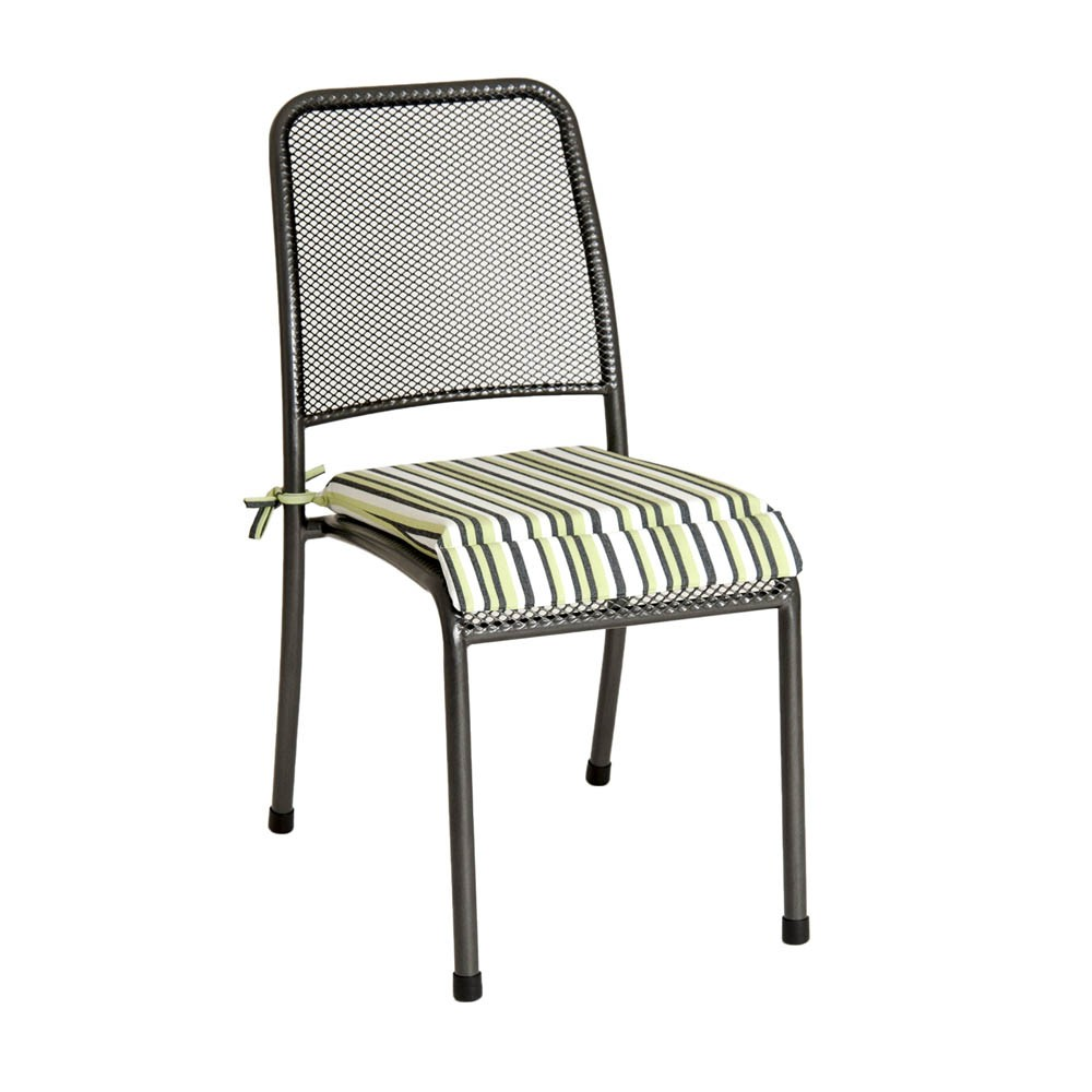 Alexander Rose Portofino Chair Cushion - Lime Stripe