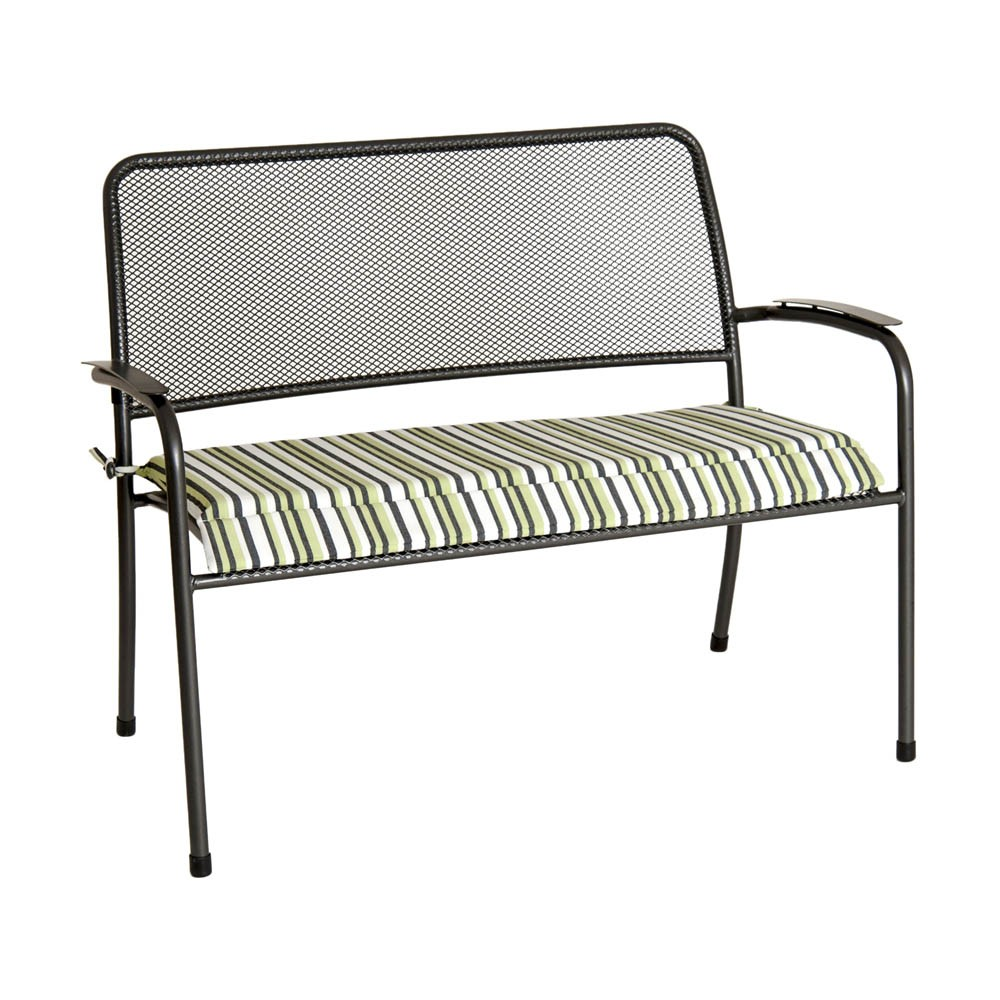Alexander Rose Portofino Bench Cushion - Lime Stripe