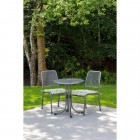 Alexander Rose Portofino 2 Seat Side Chair Round Set - Green Stripe