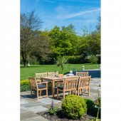 Alexander Rose Roble 6 Seat Armchair Dining Set