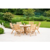 Alexander Rose Roble 6 Seat Folding Armchair and Bengal Table Set