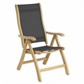 Alexander Rose Roble Recliner Chair - Charcoal Sling
