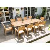 Alexander Rose Roble 10 Seat Stacking Armchair Extending Set