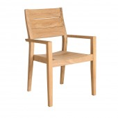 Alexander Rose Roble High Back Stacking Armchair