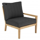 Alexander Rose Roble Lounge Right End - Charcoal