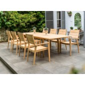 Alexander Rose Roble 8 Seat Stacking Armchair Extending Set