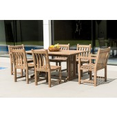 Alexander Rose Sherwood 6 Seat Broadfield and Side Chair Rectangular Dining Set