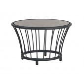 Alexander Rose Cordial Grey Round Side Table - Pebble HPL Top