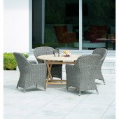 Alexander Rose Monte Carlo 4 Seat Dining Set with Roble Table