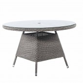 Alexander Rose Monte Carlo Round Table 120 cm - Glass Top